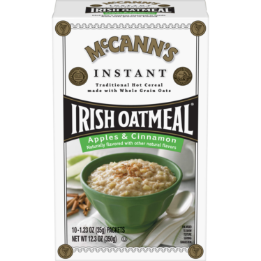 Image of <em>McCann's</em><sup>®</sup> Apples & Cinnamon Instant Irish Oatmeal